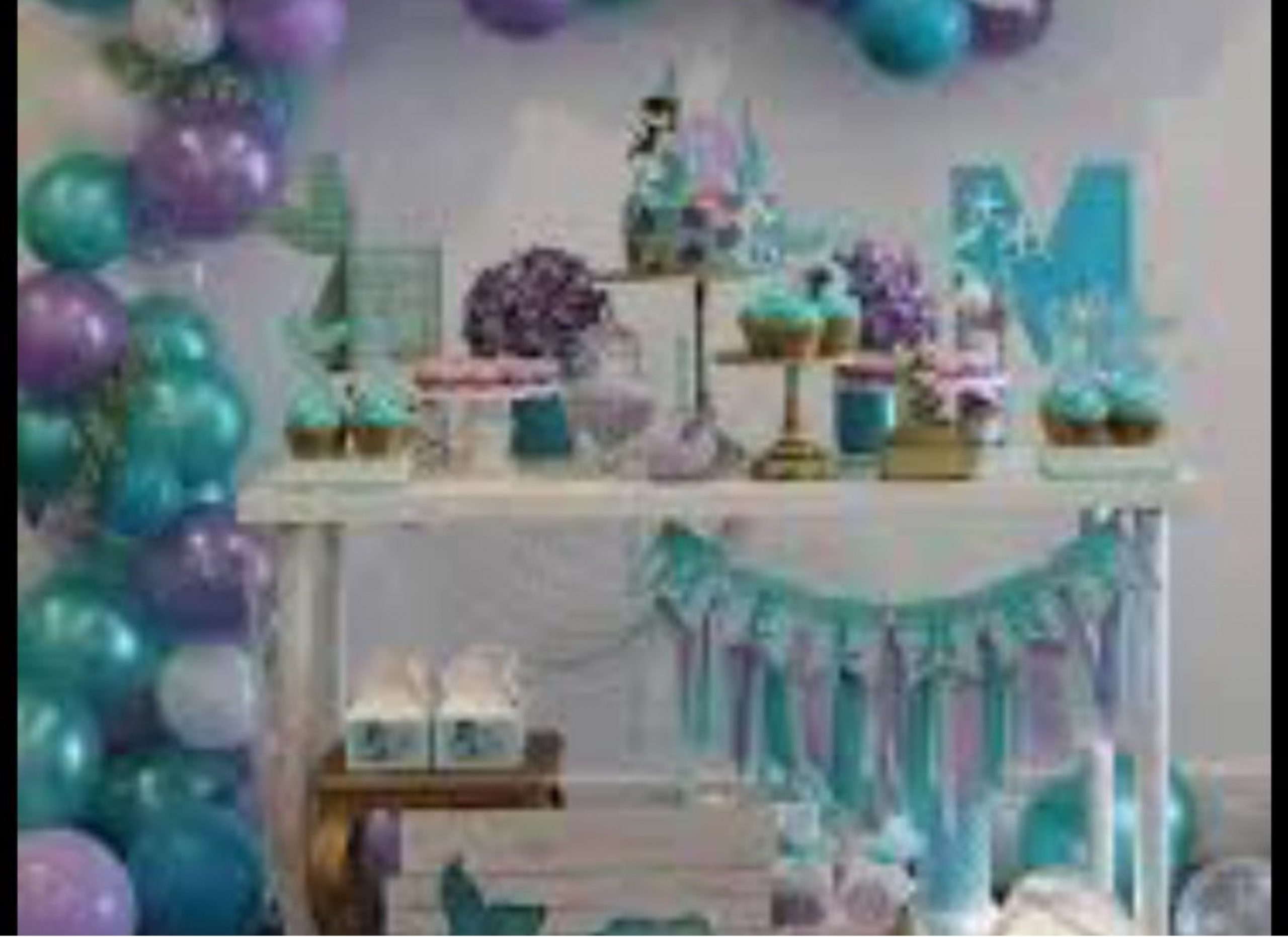 Candy bar con globos